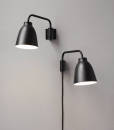 Caravaggio Wall lamps Black - 16205