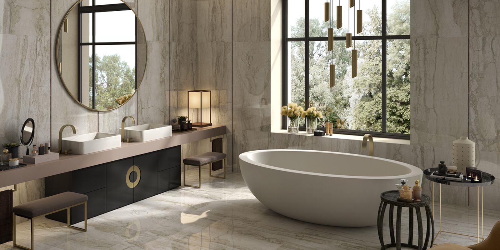 Orobianco la faenza maro ceramiche - Piastrelle per bagno moderno ...
